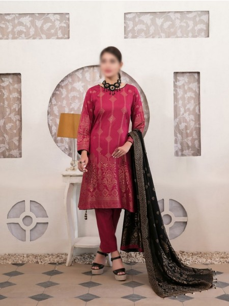 TAWAKKAL Meral Linen Banarsi Broshia Collection D-2147