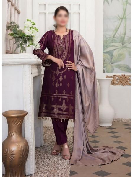 TAWAKKAL Meral Linen Banarsi Broshia Collection D-2148