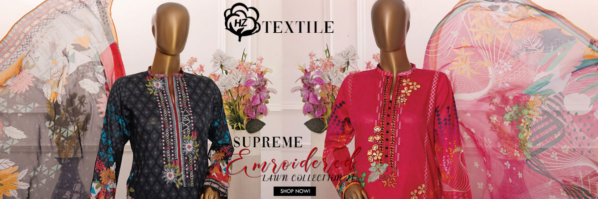 HZ DIAMOND SUPREME EMBROIDERED LAWN COLLECTION'21