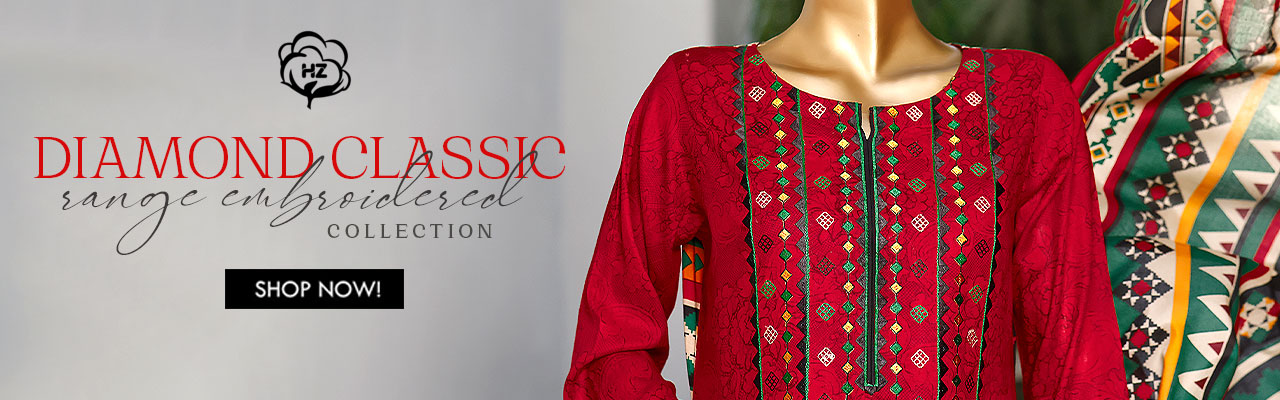 HZ TEXTILE Premium Embroidered Chapter 3 Unstitched Collection