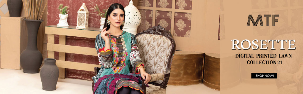 MTF ROSETTE DIGITAL PRINTED LAWN COLLECTION'21