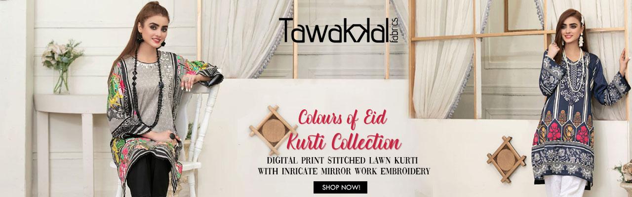 Tawakkal Color Of Eid Kurti Collection