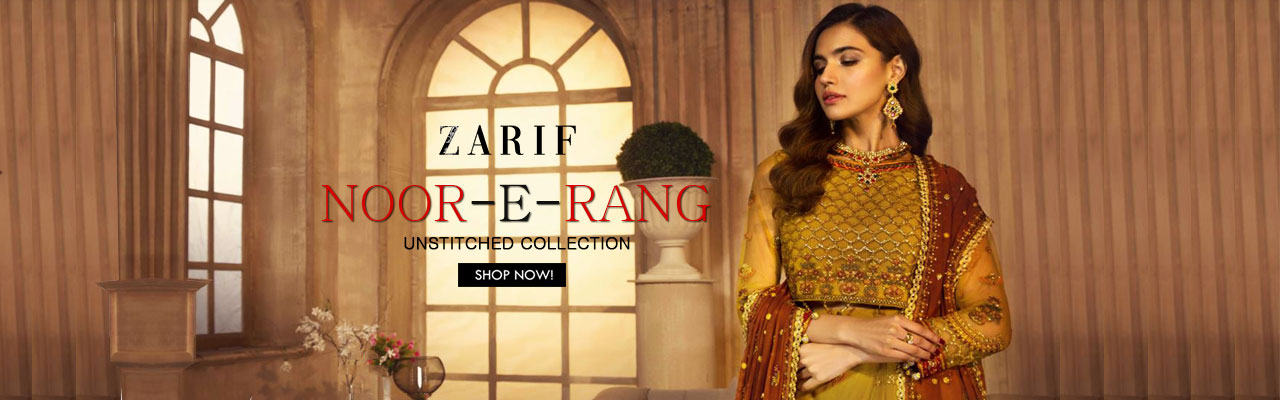 ZARIF Noor e Rang Unstitched Collection