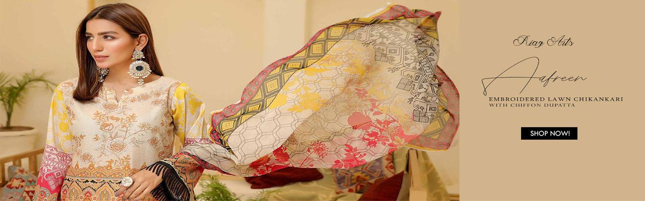 RIAZ ARTS Chikankari Lawn Embroidered Collection