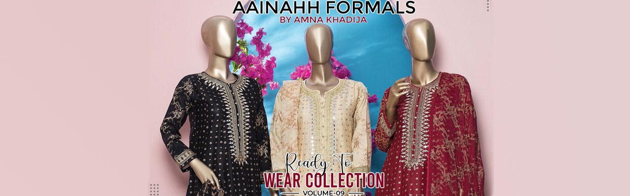 AMNA KHADIJA Aainahh Formals Pret Collection Vol-10