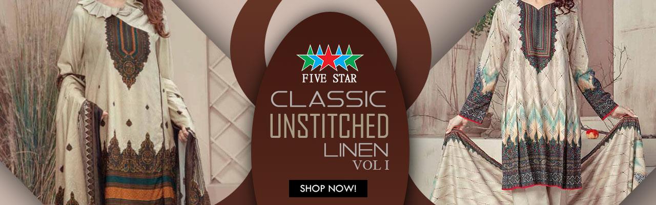 FIVE STAR Classic Unstitched Linen20 Vol
