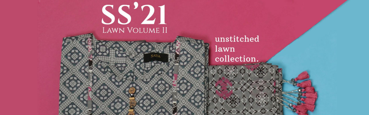 Saya Lawn Vol2 Unstitched Printed Lawn 3 Piece