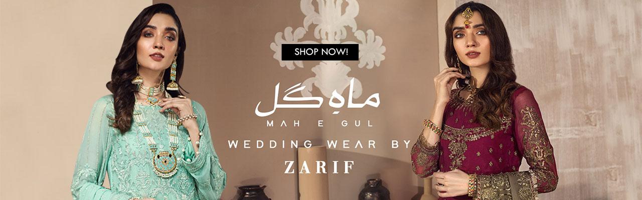 Mah e Gul Wedding Wear Unstitched Chiffon Collection